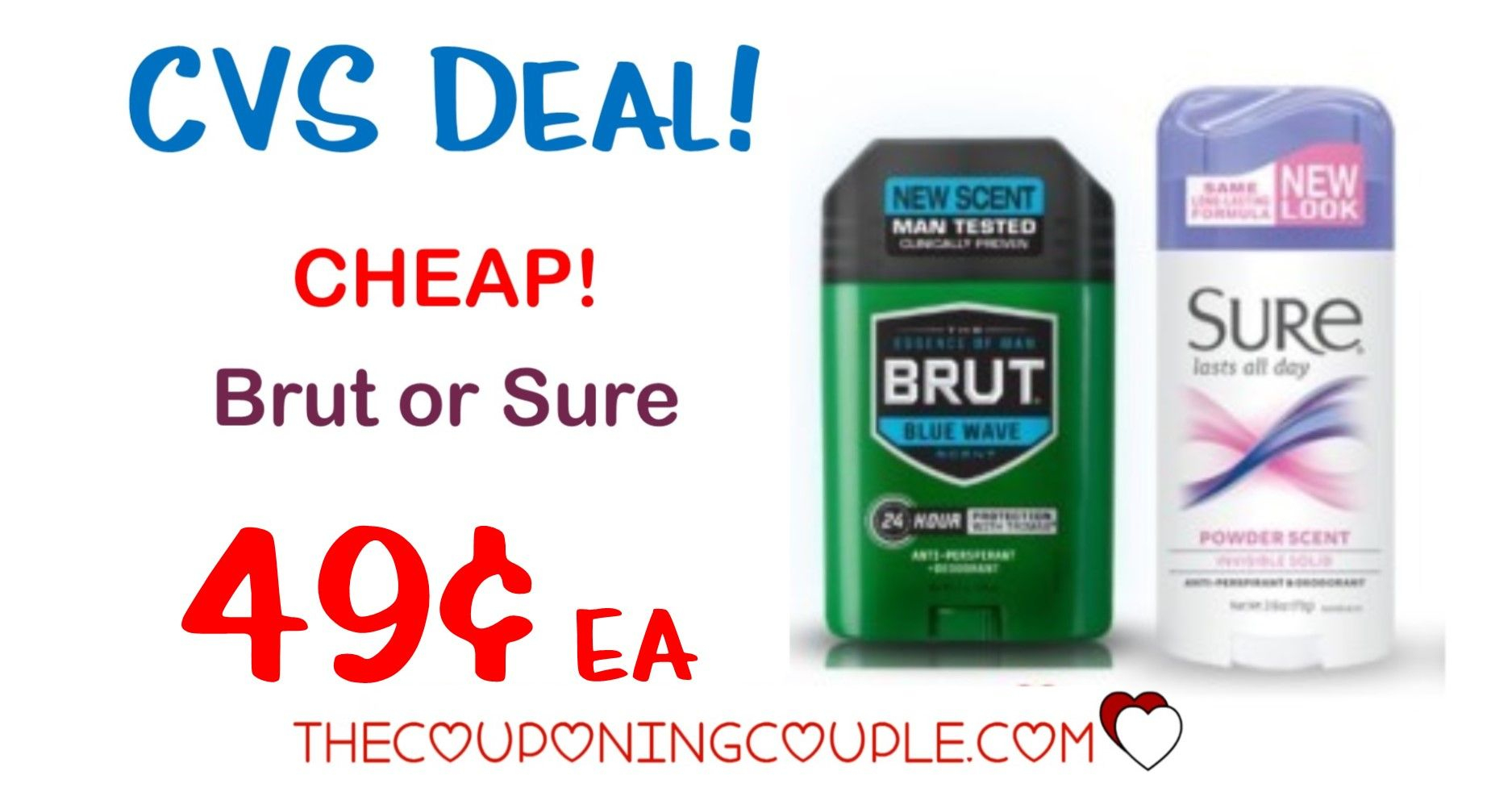 Cheap Brut Or Sure Deodorant @ Cvs! As Low As $0.49 Each! | Pinterest - Free Printable Coupons For Mitchum Deodorant