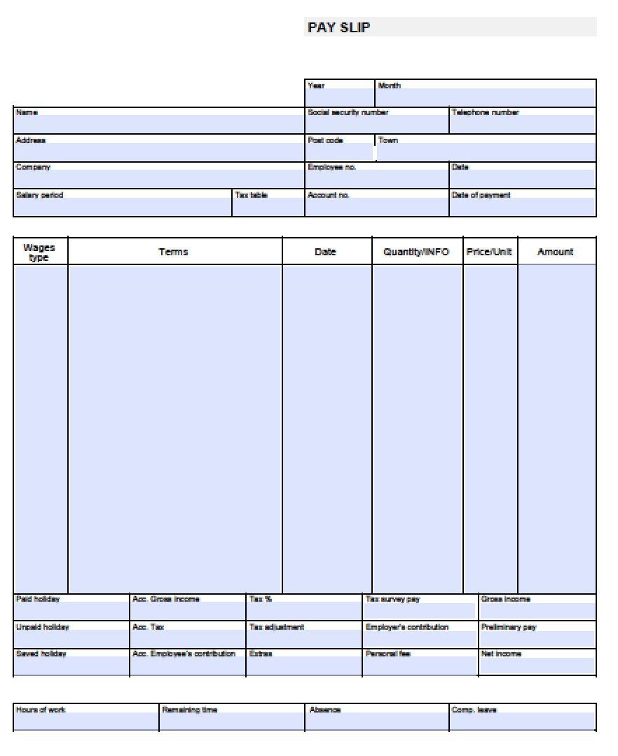 Check Stub Template Free | Pay Stub Template Free Blank-Usa-Pay-Stub - Free Printable Pay Stubs Online