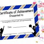 Cheerleading Certificate Cheerleading Award Cheerleading | Etsy   Free Printable Cheerleading Certificates