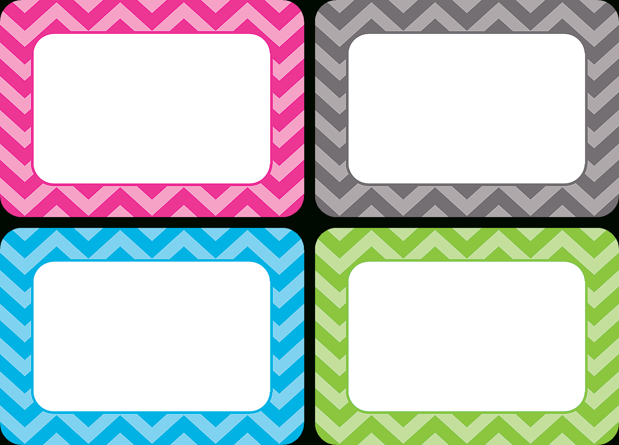 Chevron Name Tags/labels - Multi-Pack - Tcr5526   Teacher Created - Free Printable Chevron Labels