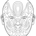 Chinese Opera Mask 6 Coloring Page | Free Printable Coloring Pages   Free Printable Lizard Mask