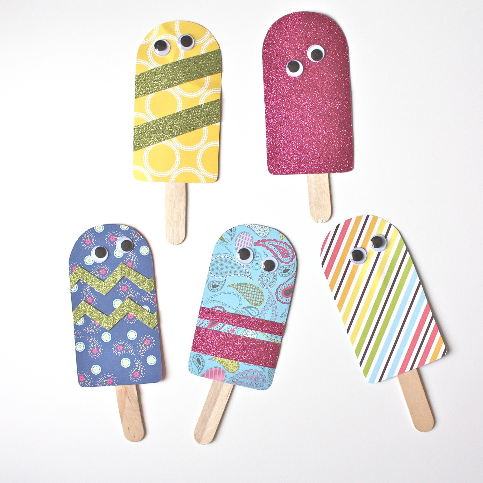Christina Williams: Paper Popsicles - Free Printable Popsicle Template