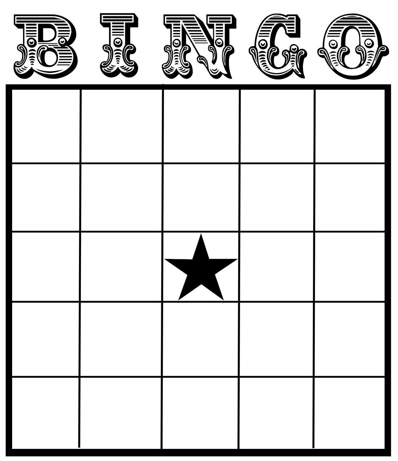 Christine Zani: Bingo Card Printables To Share   Reading & Writing - Free Printable Blank Bingo Cards