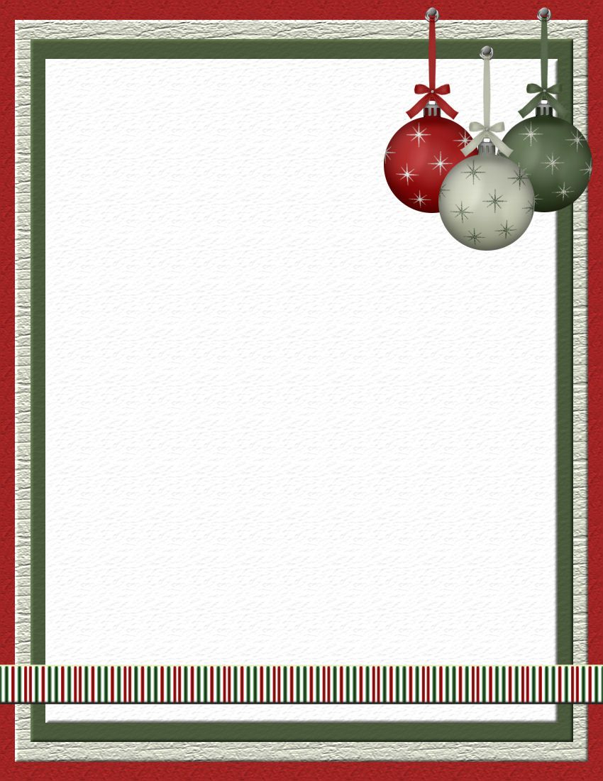 Christmas 2 Free-Stationery Template Downloads | Michelle - Free - Free Printable Christmas Stationary