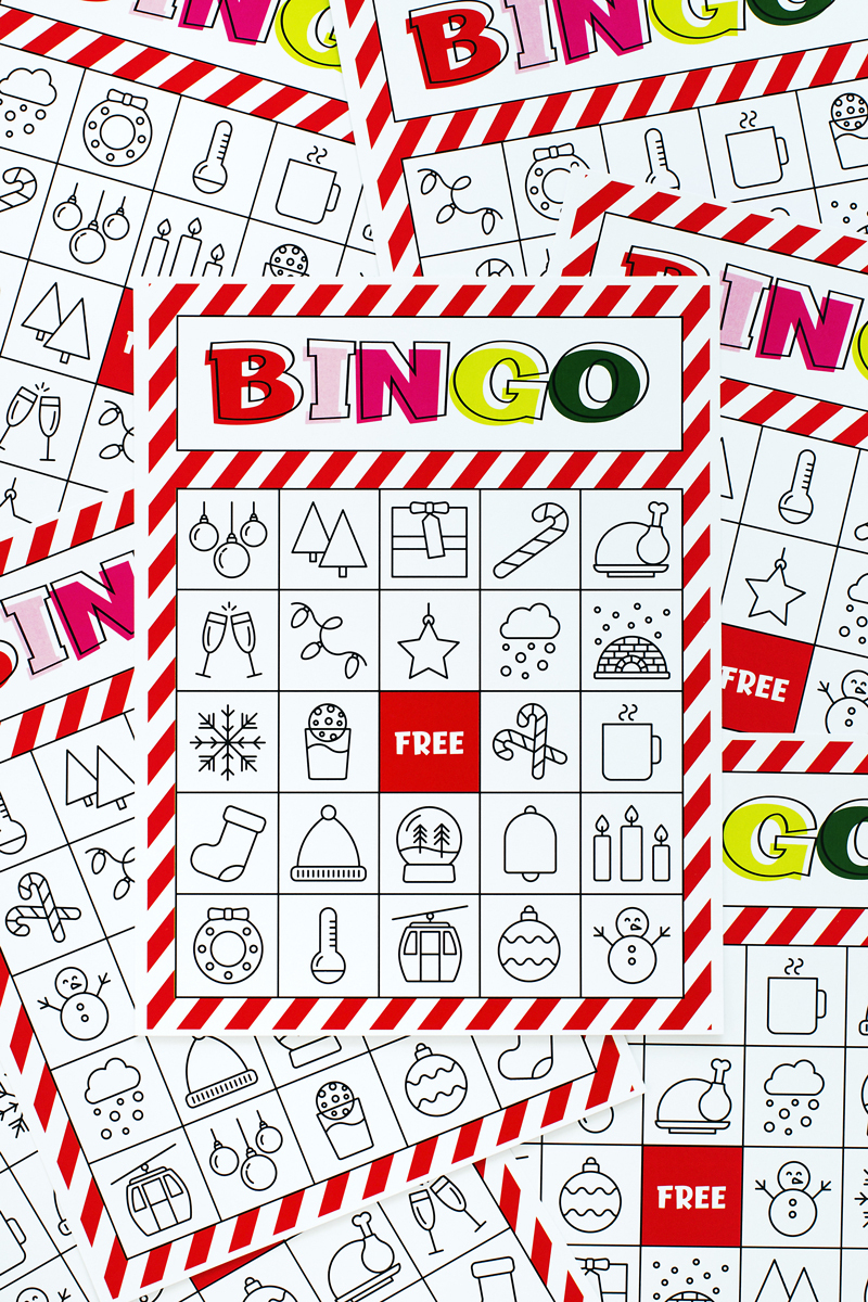 Christmas Bingo Printable For Large Groups & Small • A Subtle Revelry - Free Printable Bingo Cards For Large Groups