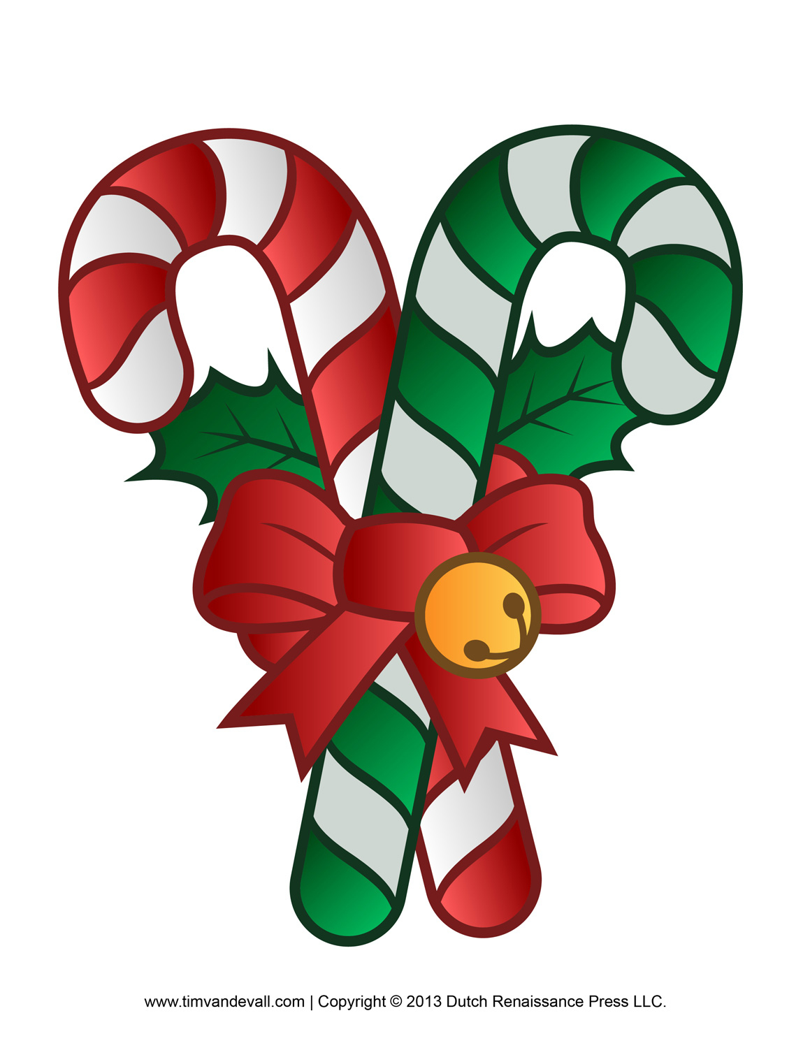 Christmas Candy Cane Clipart - Free Printable Candy Cane