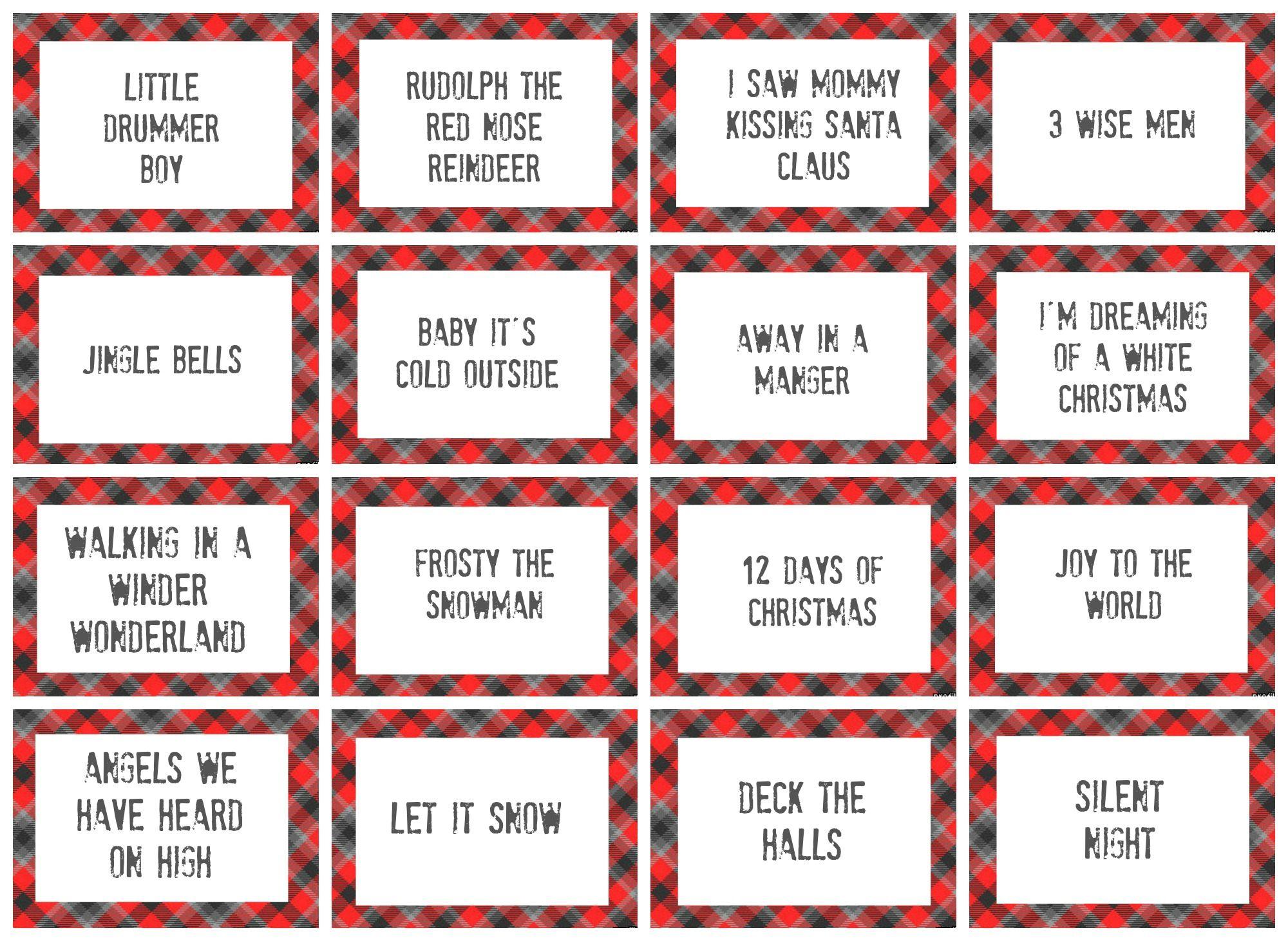 Christmas Charades Game And Free Printable Roundup   Crafting - Free Printable Charades Cards