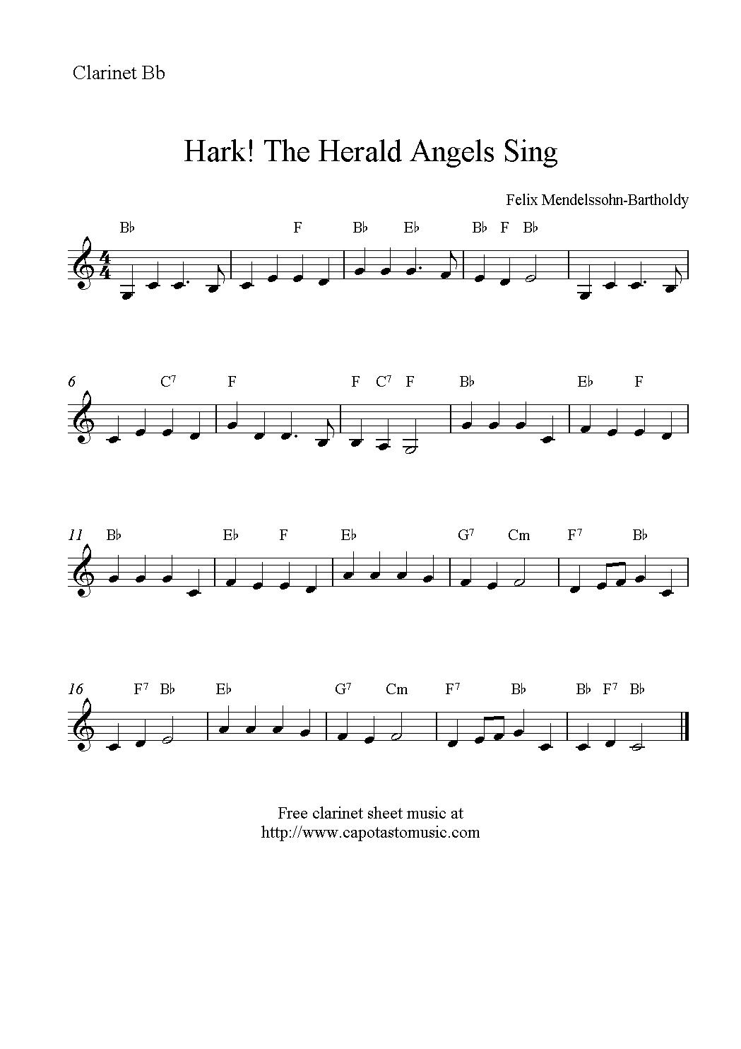 Christmas Clarinet Sheet Music Free - Google Search | Music - Free Printable Clarinet Music