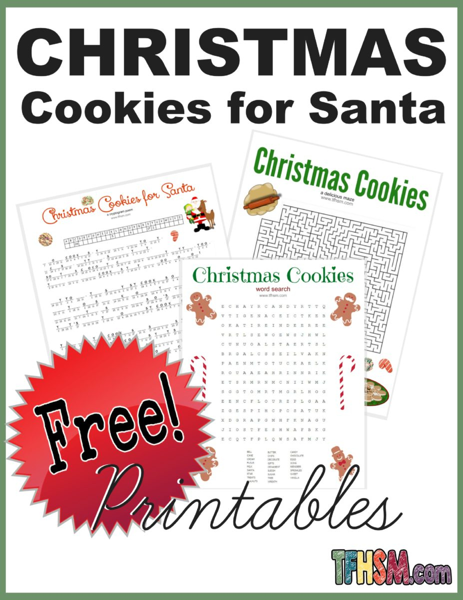Christmas Cookies For Santa Poem And Printable Games - Free! – The - Free Printable Poetry Posters