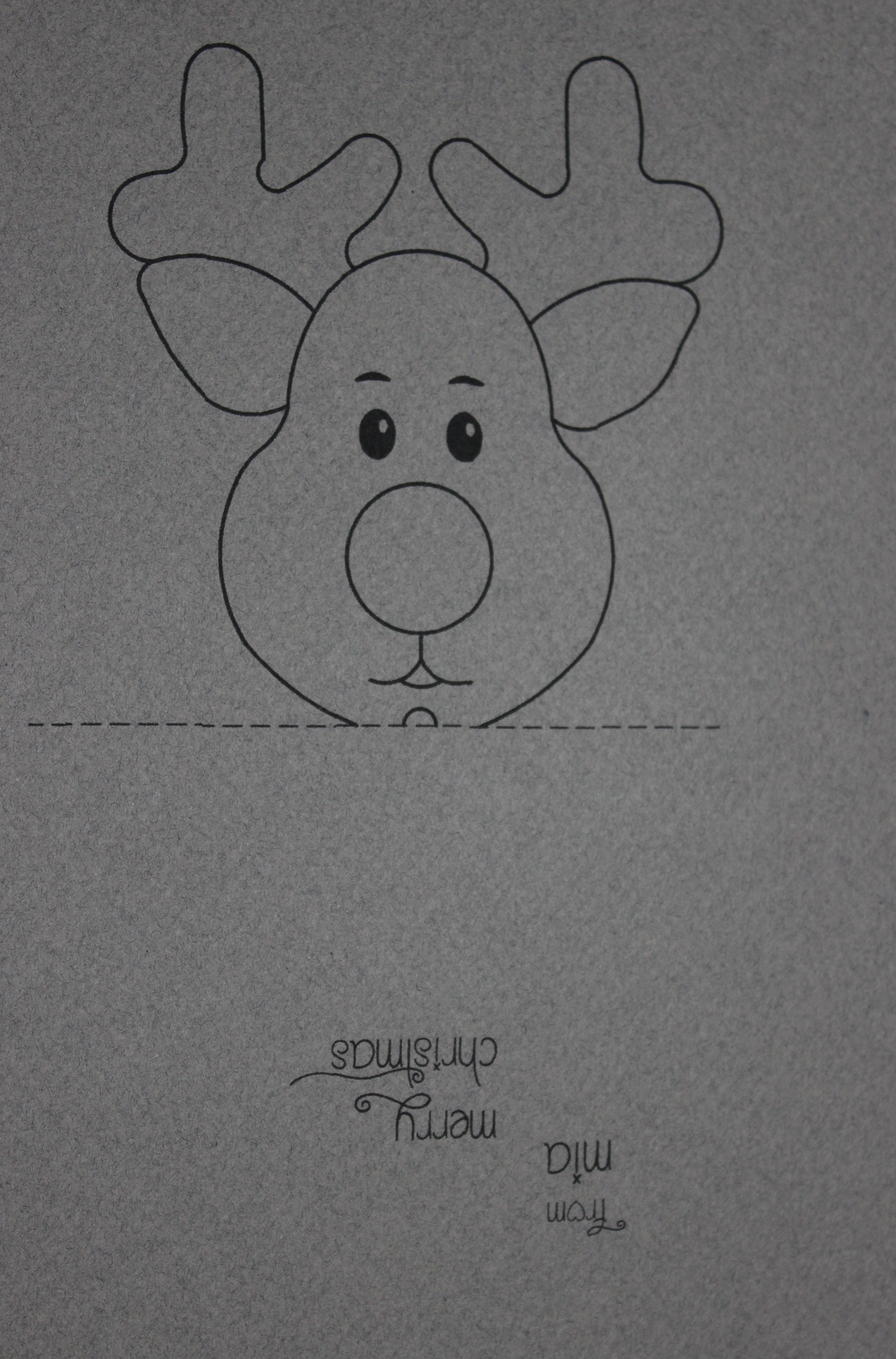 Christmas | Create It Stitchery - Free Printable Reindeer Lollipop Template