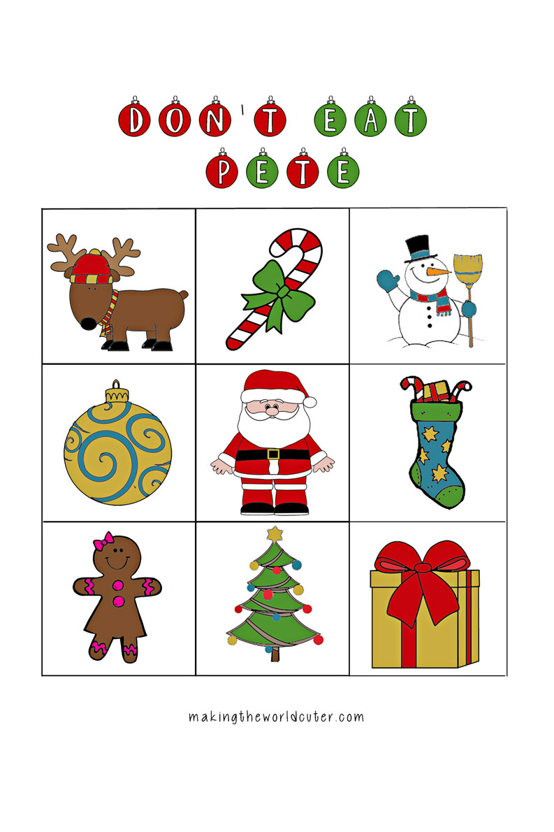 Christmas-Don't-Eat-Pete-Free-Printable - Don T Eat Pete Free Printable