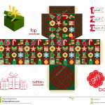 Christmas Gift Box Template Free Printable – Festival Collections   Printable Box Templates Free Download