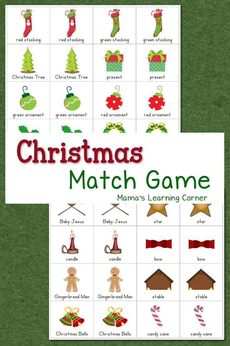 Christmas Match Game | Homeschooling | Pinterest | Preschool - Free Printable Christmas Games For Preschoolers