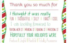 Christmas Printable Thank You Cards For Kids – Fill In The Blank Thank You Cards Printable Free