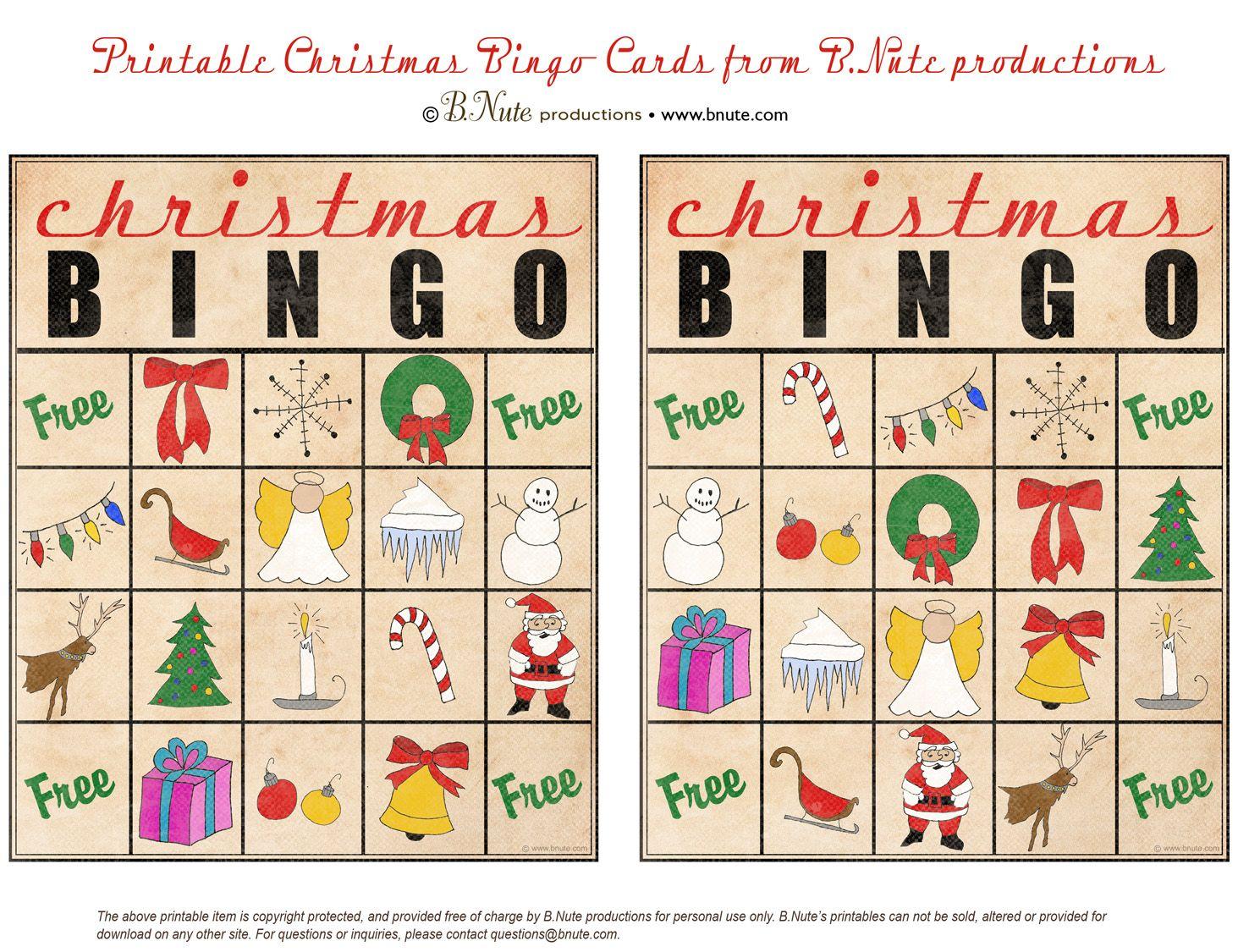 Christmas Printables Images   Free Printable Christmas Bingo Cards - Free Printable Christmas Bingo