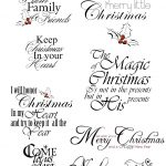 Christmas Sayings For Commercial And Personal Use | Christmas Decor   Free Printable Greeting Card Sentiments