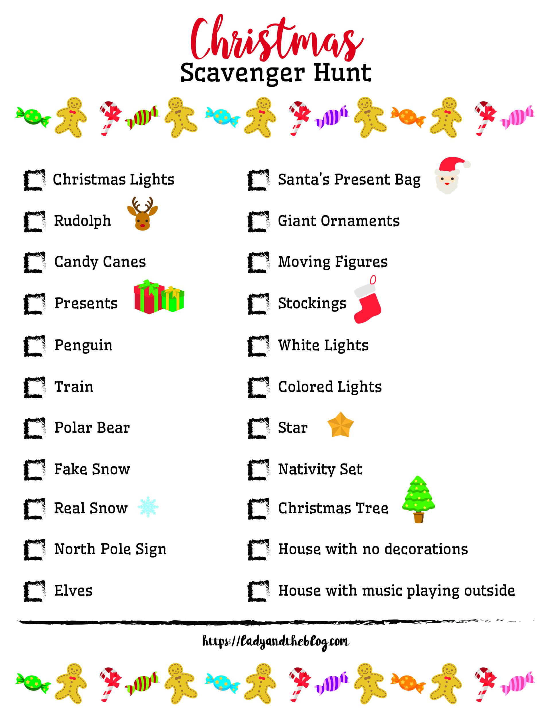 Christmas Scavenger Hunt Ideas - Free Printables For The Holiday - Free Printable Scavenger Hunt