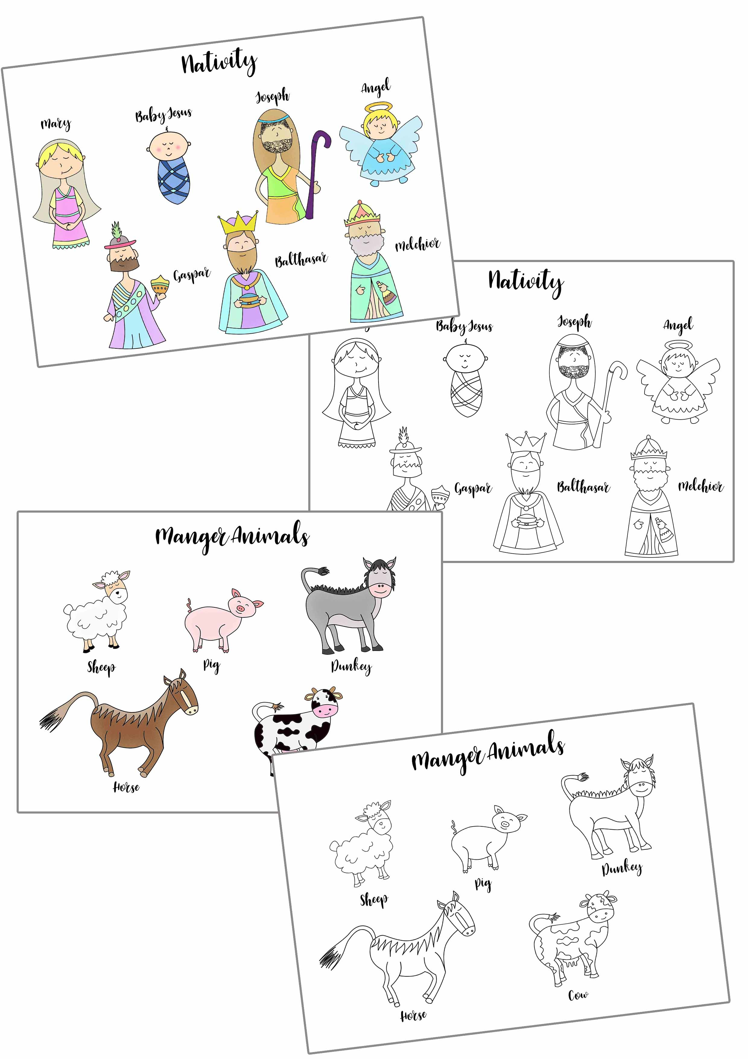 Christmas Story Stick Puppets Free Printable ~ Daydream Into Reality - Free Printable Nativity Story