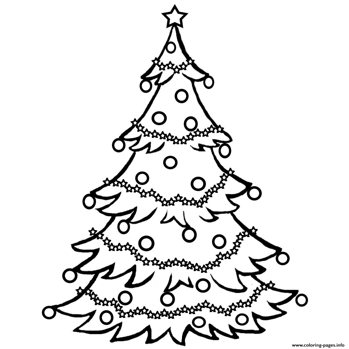Christmas Tree Free Coloring Pages Printable - Free Printable Christmas Tree Images