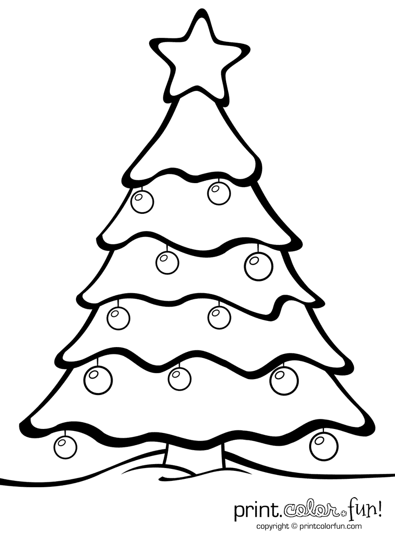 Christmas Tree With Ornaments | Print. Color. Fun! Free Printables - Free Printable Christmas Tree Images