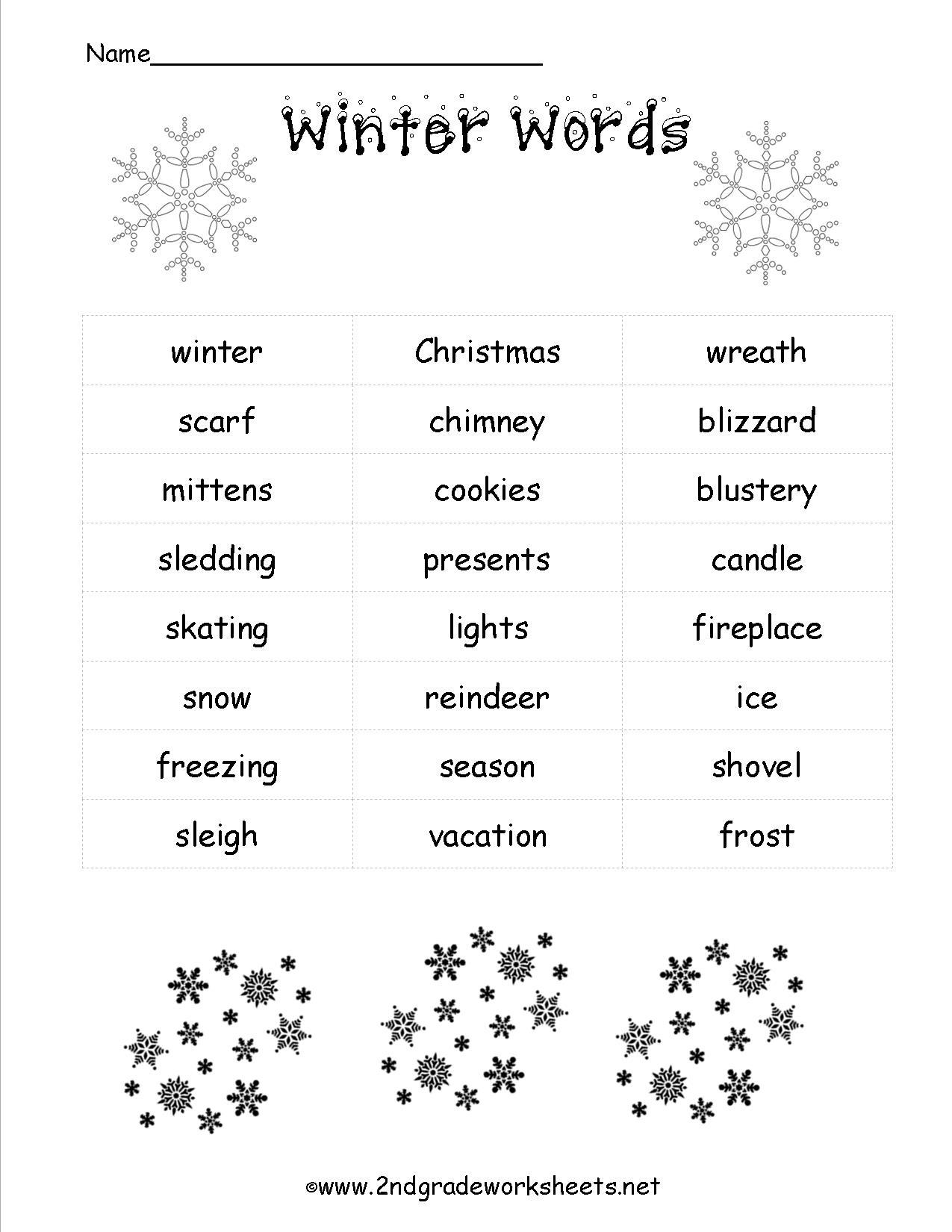 Christmas Worksheets And Printouts - Free Printable Holiday Worksheets