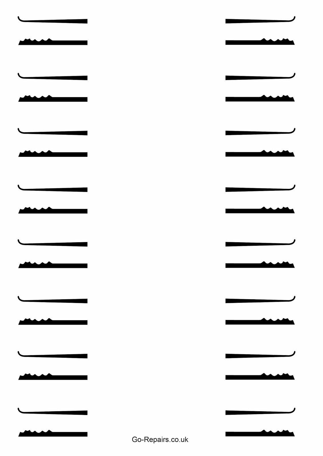 Cia Lock Pick Templates Printable   Www.topsimages - Free Printable Lock Pick Templates