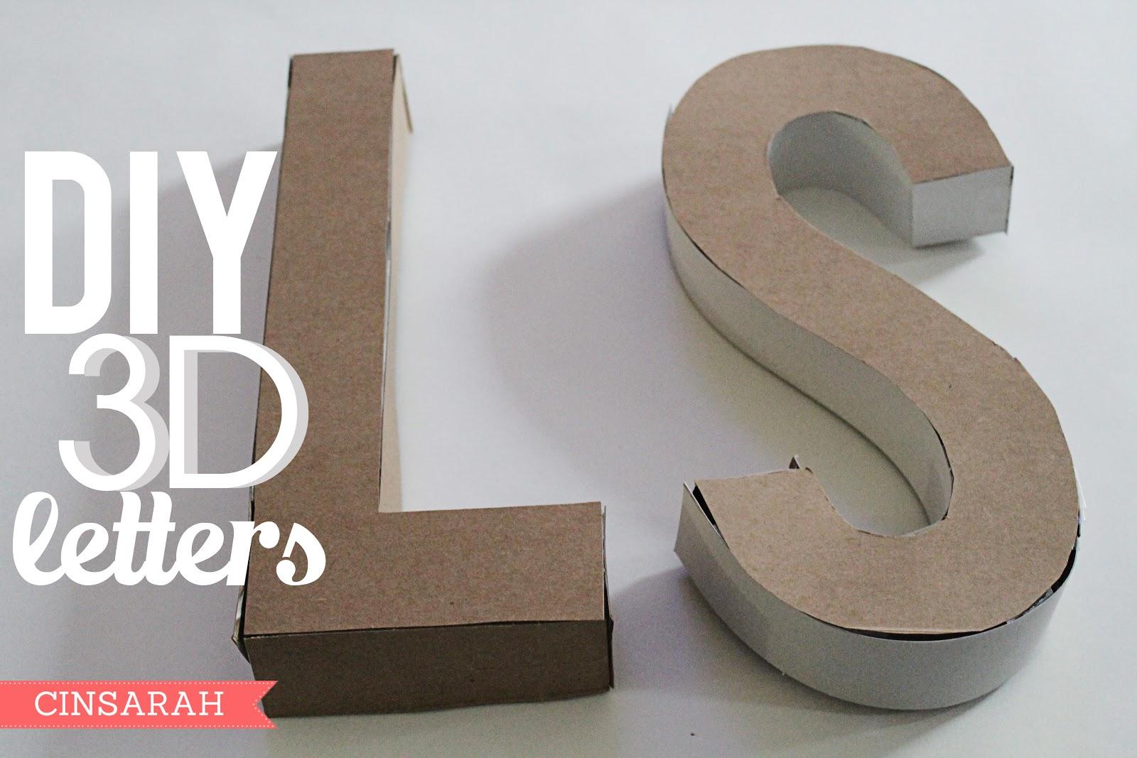 Cinsarah: Diy 3D Letters - Free Printable 3D Letters