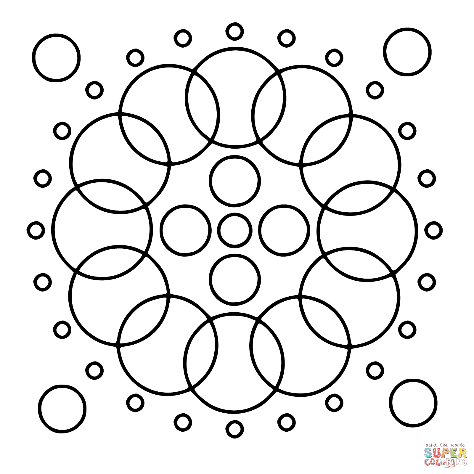 Circle Mandalas Coloring Pages | Free Coloring Pages - Free Printable Mandala Coloring Pages