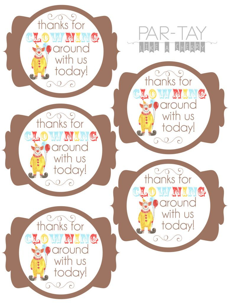 Circus Party Favor Tags | Party Like A Cherry | Pinterest | Circus - Party Favor Tags Free Printable