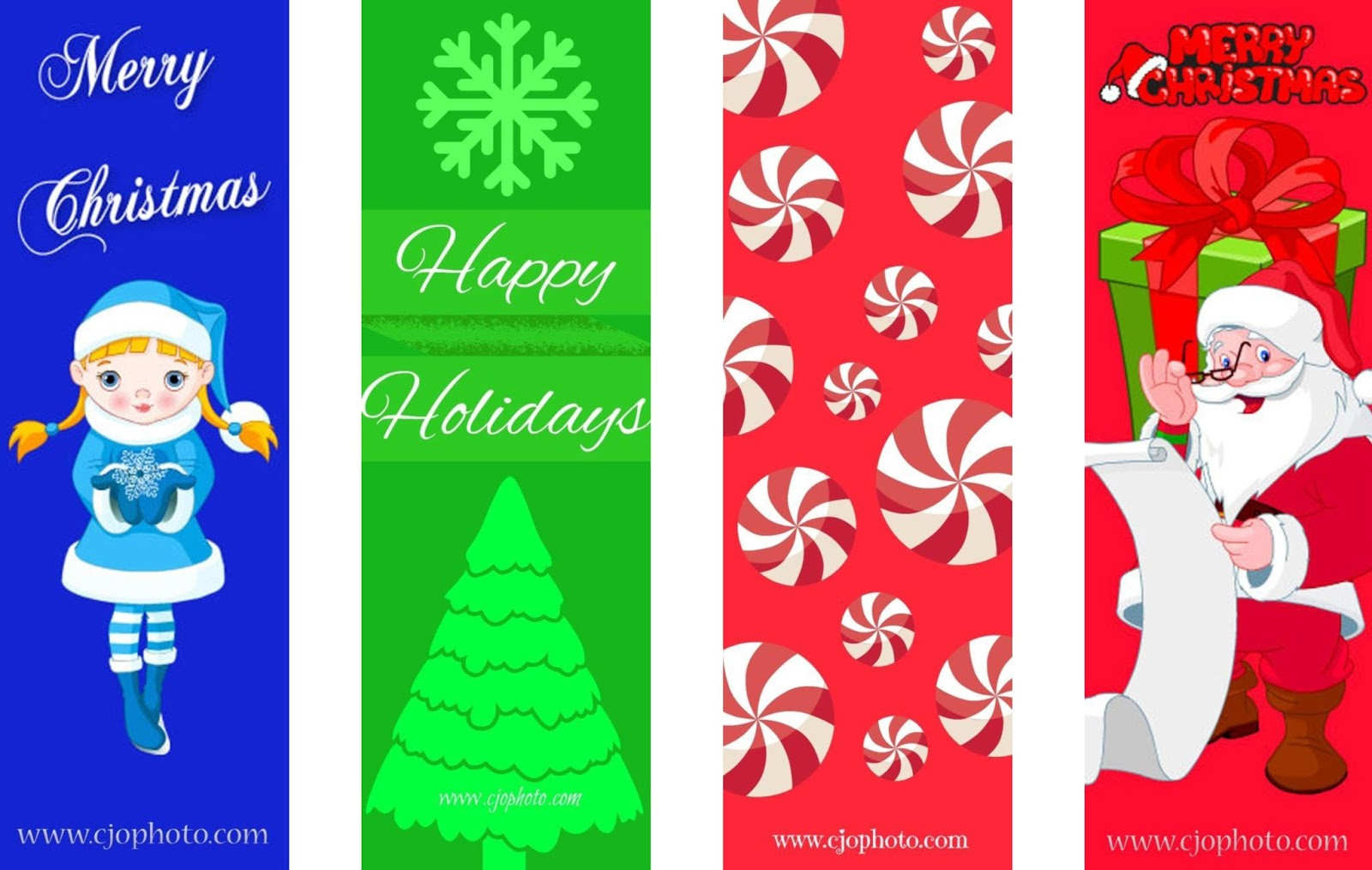 Cjo Photo: Printable Bookmarks: Christmas - Free Printable Bookmarks For Christmas