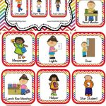 Classroom Helper And Job Cards Rainbow Chevron | Kinderland   Preschool Classroom Helper Labels Free Printable