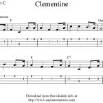 Clementine, Free Easy Ukulele Tab Sheet Music   Free Printable Ukulele Songs