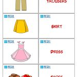 Clothes Flash Cards For Kids Printables   Flash Cards   Flashcards   Free Printable Flash Card Maker