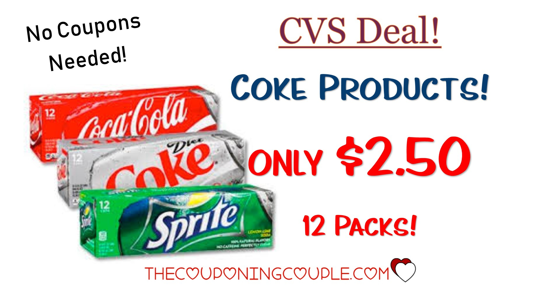 Coca-Cola Products $2.50 Per 12-Pack @ Cvs - Free Printable Coupons For Coca Cola Products
