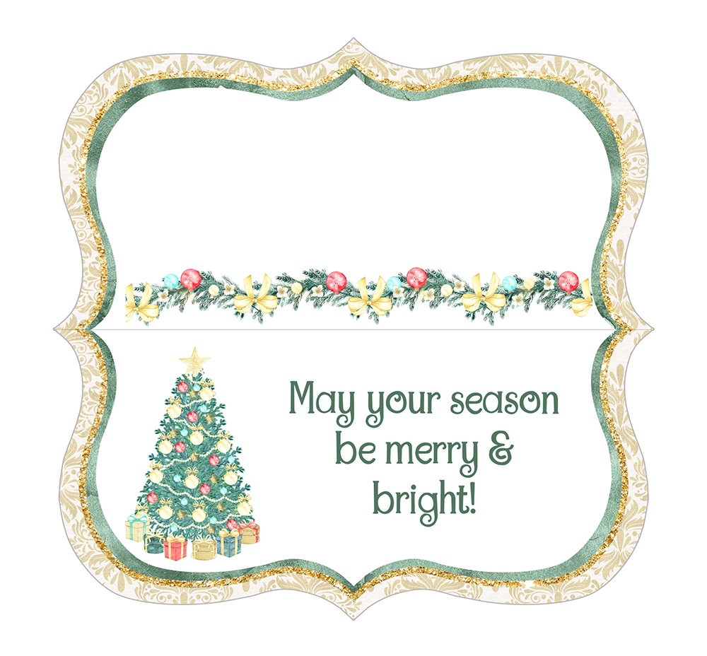 Coconut Cashews Plus Free Christmas Treat Bag Toppers Printables - Free Printable Christmas Bag Toppers Templates