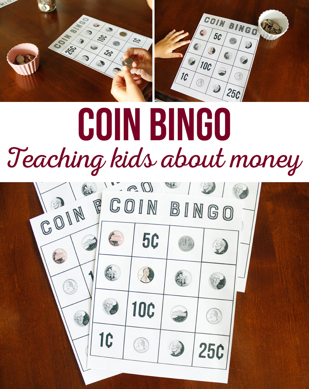 Coin Bingo Free Printable - The Crafting Chicks - Free Printable Game Money