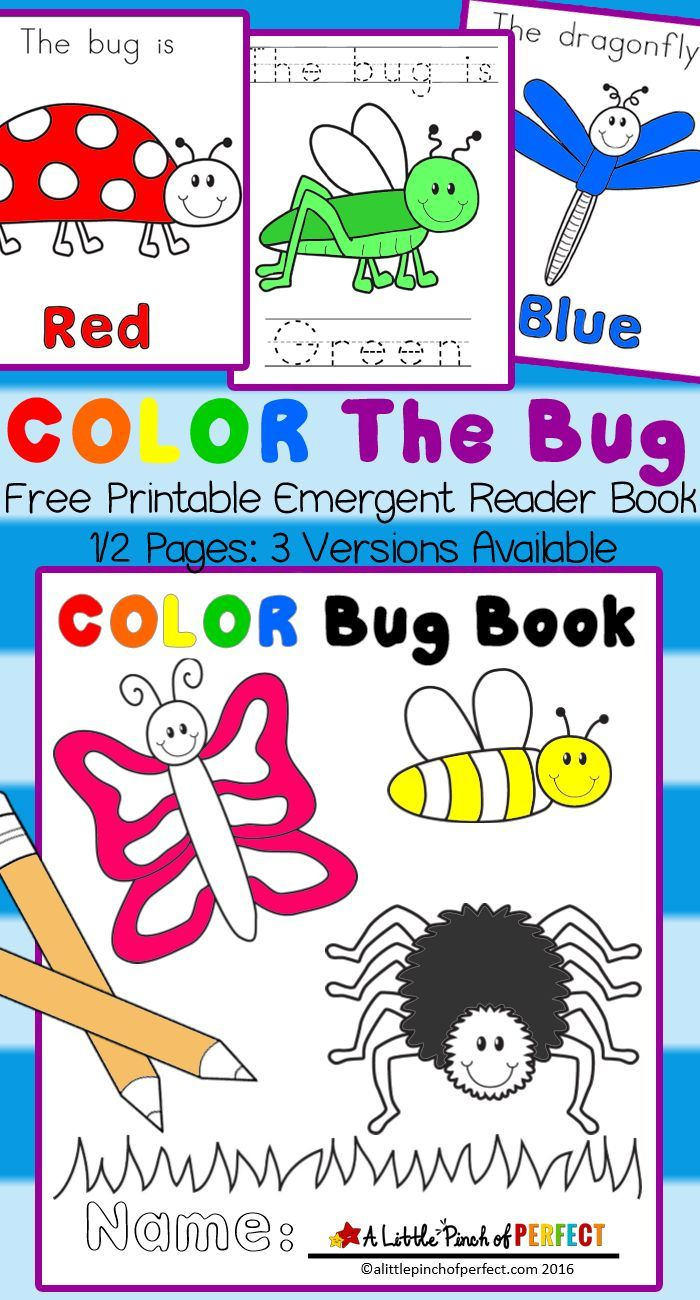 Color The Bug Free Printable Emergent Reader Book - | Preschool - Free Printable Reading Books For Preschool