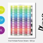 Colorful Bill Due – Planner Addiction   Free Printable Bill Planner
