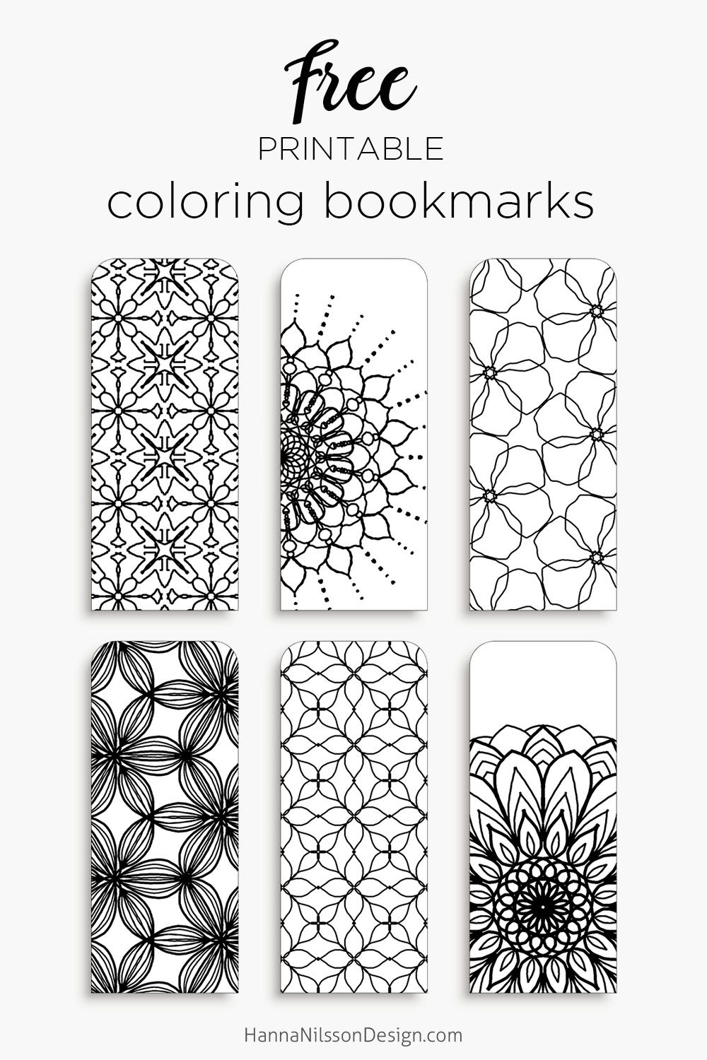 Coloring Bookmarks – Print, Color And Read | Hanna Nilsson Design - Free Printable Spring Bookmarks