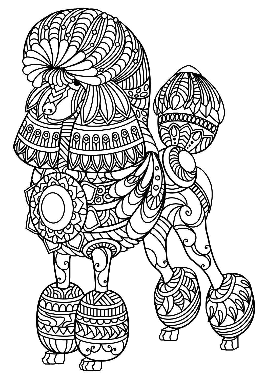 Coloring Farm Animals Colouring Pages Pdf Also Wild Animal | Adult - Free Printable Mandalas Pdf