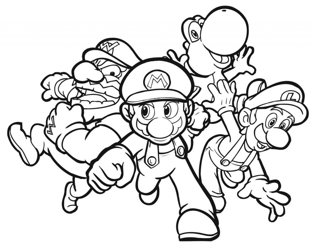 Coloring Pages ~ Amazing Superario Coloring Pages Free Printable For - Mario Coloring Pages Free Printable
