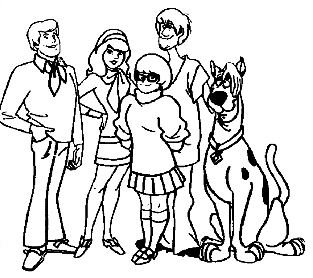 Coloring Pages : Awesome Scoo Doo Coloring Pages Design Printable - Free Printable Coloring Pages Scooby Doo