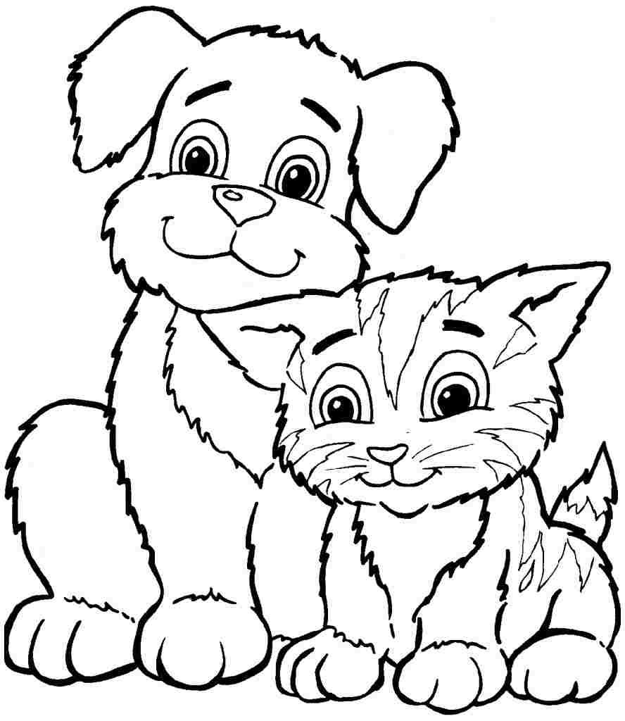 Coloring Pages : Awesomeable Animal Coloring Pages For Kids Animals - Free Printable Animal Coloring Pages