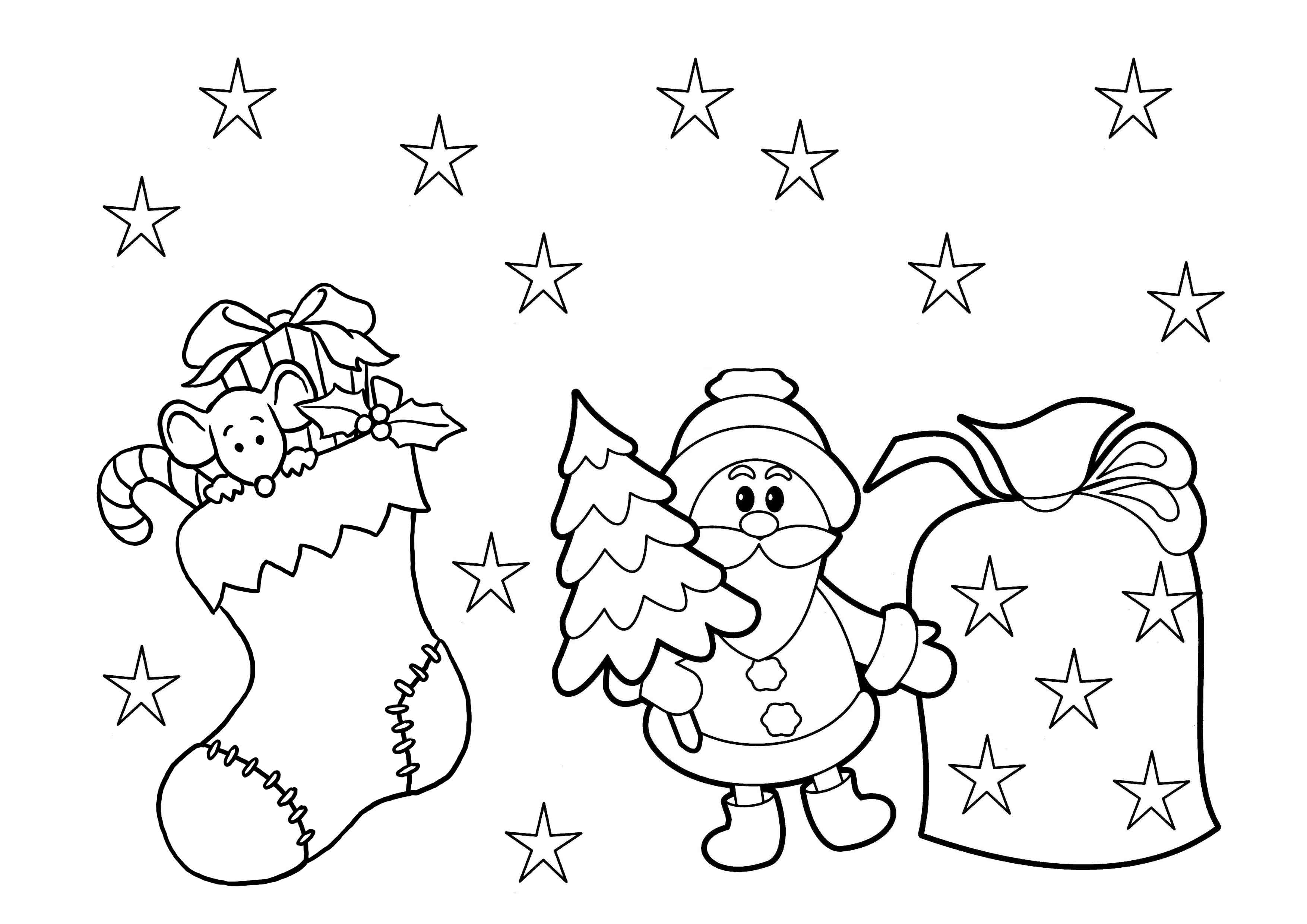 Coloring Pages : Christmas Coloring Sheets For Preschool Pages Print - Free Printable Christmas Coloring Pages For Kids