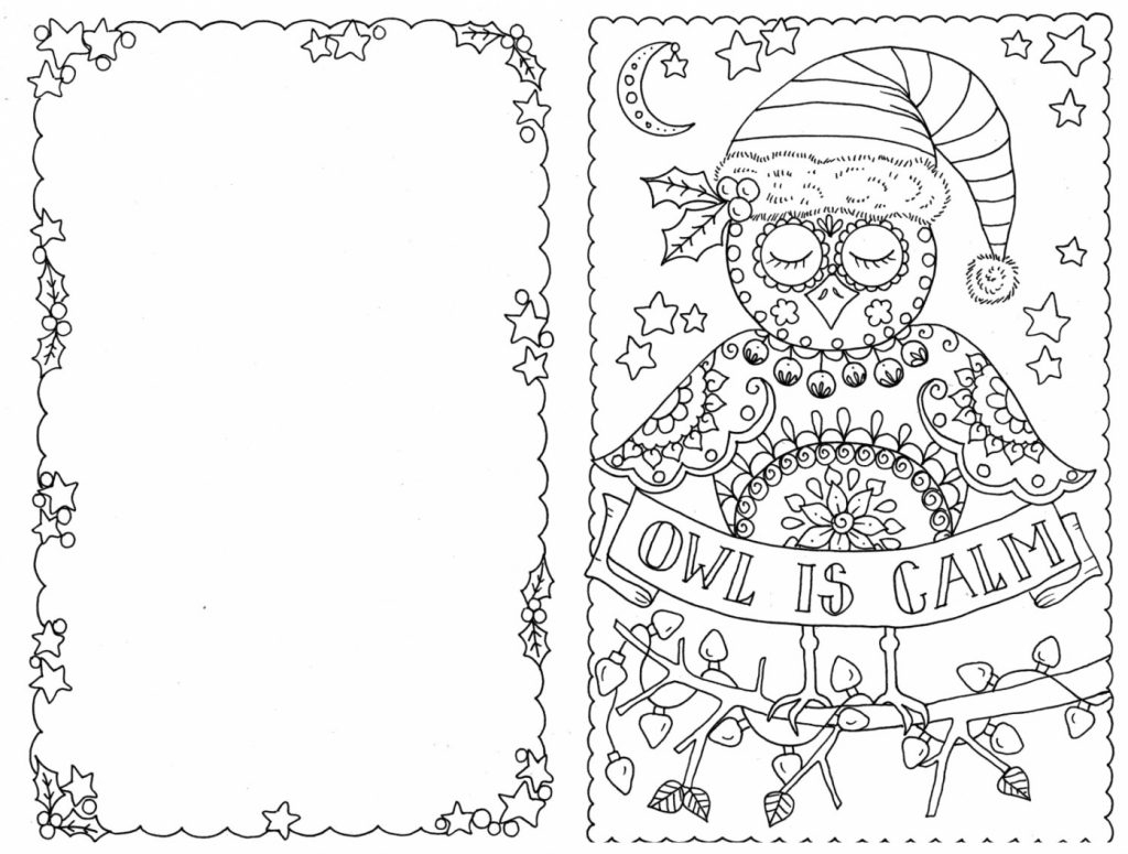 Coloring Pages ~ Coloring Christmas Cards Pages For Card Staggering - Free Printable Christmas Cards To Color