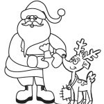 Coloring Pages : Coloring Pages Free Printable Santa For   Xmas Coloring Pages Free Printable