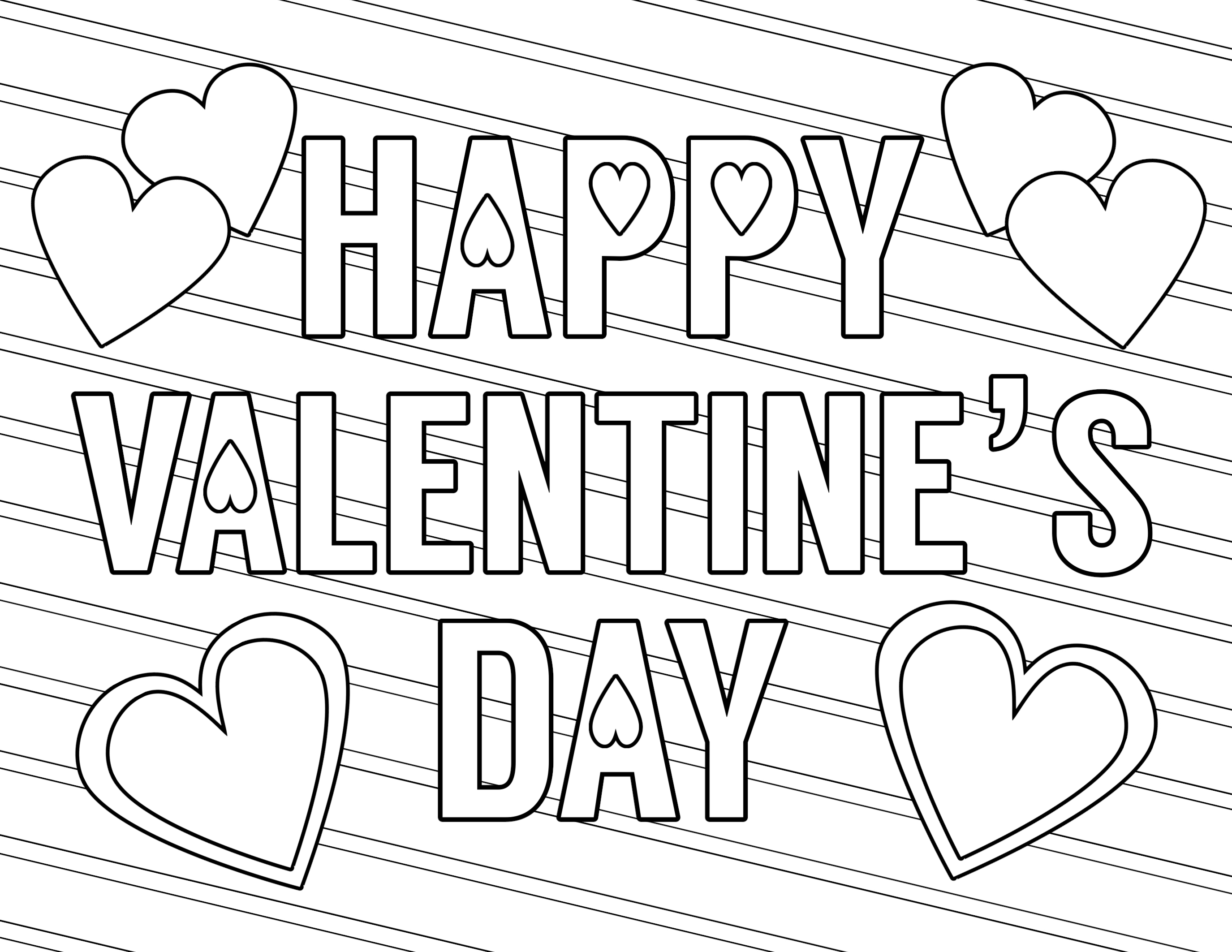 Coloring Pages : Coloring Pages Valentines Day Page Printable - Free Printable Valentine Coloring Pages
