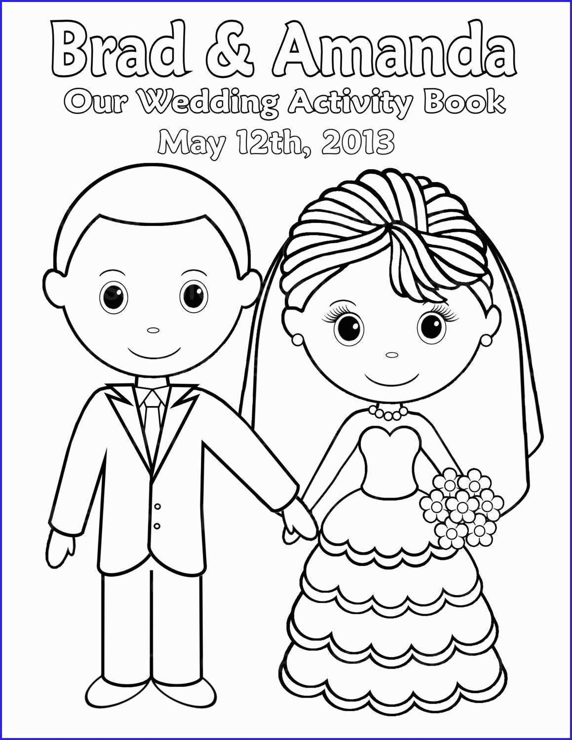 Coloring Pages : Custom Coloring Books From Photos Luxury Free - Free Printable Personalized Wedding Coloring Book
