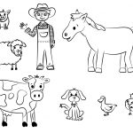 Coloring Pages : Farmnimal Coloring Book Free Printable Pages For   Free Printable Farm Animal Pictures