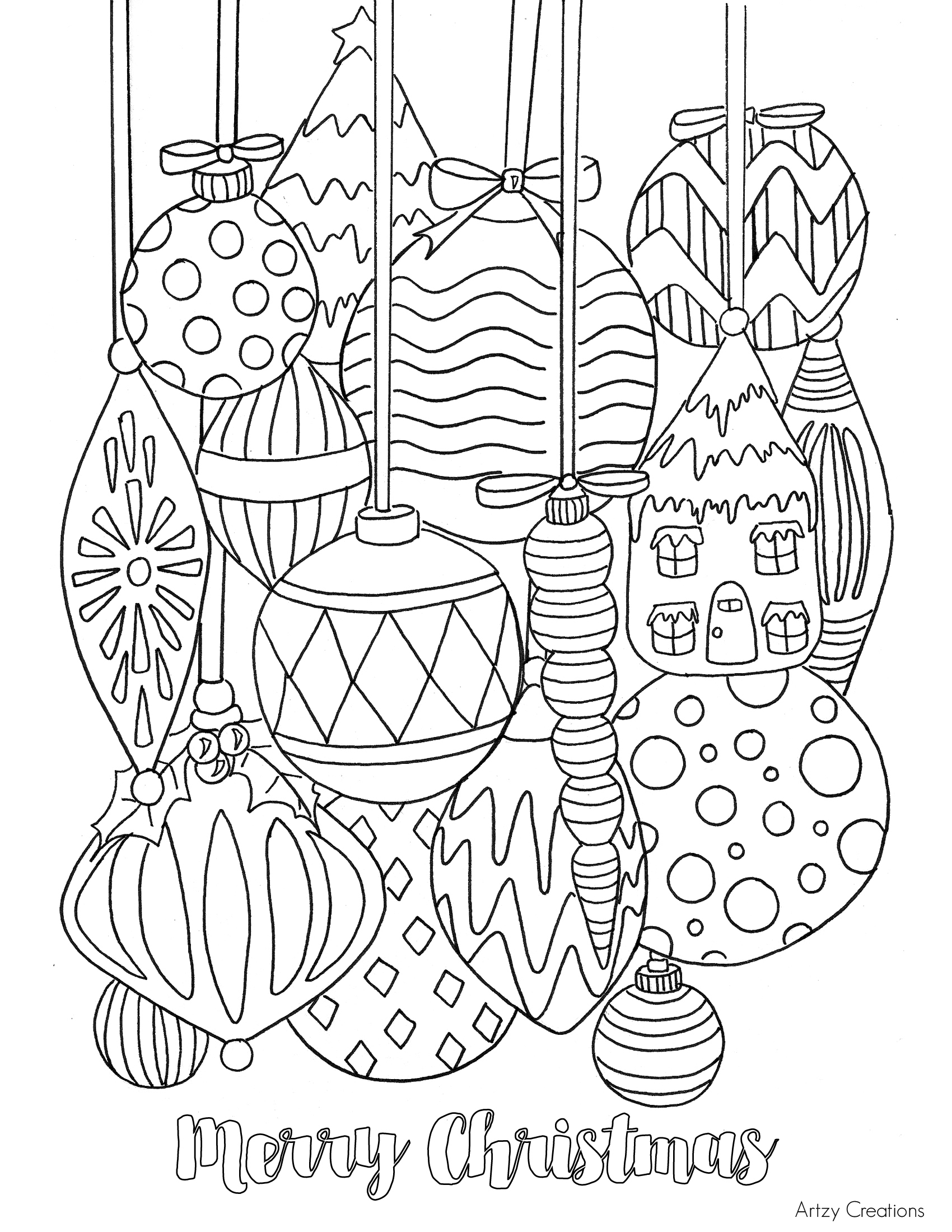 Coloring Pages : Free Christmas Ornament Coloringage Tgif This - Free Printable Christmas Ornament Coloring Pages